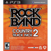 Jogo Ps3 Rock Band Country Track Pack 2 Original E Lacrado