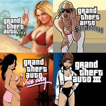 Ps3 Pacote Gta 5 + 3 + Vice City + San Andreas Pronta Entreg