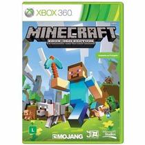 Minecraft Xbox 360 Edition Mídia Fìs Português Frete Grátis