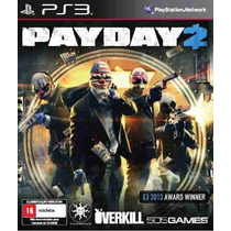 Payday 2 Ps3 Código Psn Envio Hoje