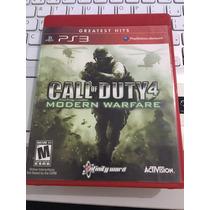 Jogo Ps3 Call Of Duty 4 Modern Warfare Mídia Física Barato !