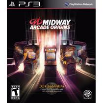 Midway Arcade Origins Ps3 Game Original Lacrado +de 30 Jogos