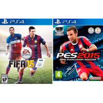 Combo Pes + Fifa 15 2015 Ps4 Pes 15 Português 2 Jogos 12xs/j
