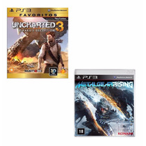 Kit 2 Jogos: Uncharted 3 + Metal Gear Rising - Lacrado
