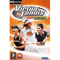 Pc Dvd-rom Virtuatennis 2009 - Jogo Novo, Original E Lacrado