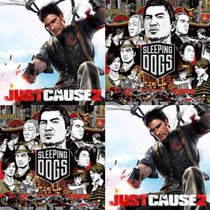 Ps3 Pacote Sleeping Dogs + Just Cause 2 Ultimate
