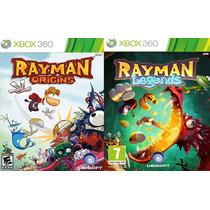 Jogo Fisico Combo Rayman Origins + Rayman Legends Xbox 360