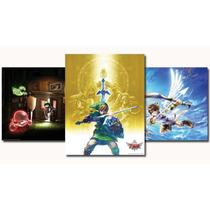 3 Poster Set Club Nintendo Zelda Luigi Kid Icarus Original