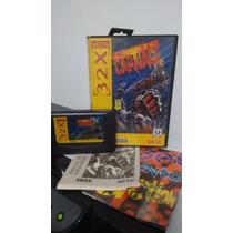 Comic Carnage / Completo Original - Sega 32x