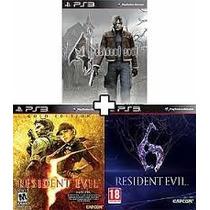 Resident Evil 4, 5 E 6 [ Ps3 Play3 Psn ] ** Combo 3x1 **