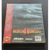 Mega Drive: Mortal Kombat Ii + Caixa Original Americano!!