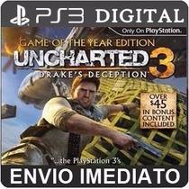 Uncharted 3 Drakes Deception Ps3 Psn Totalmente Português