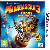 Madagascar 3 The Video Game Nintendo 3ds Novo Original