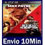 Max Payne 3 Complete Edit + Red Dead Ps3 Código Psn