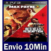 Max Payne 3 Complete Edit + Red Dead Ps3 Código Psn
