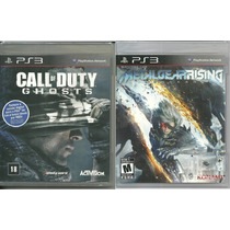 Kit 2 Jogos Call Of Duty Ghosts Metal Gear Rising Ps3 Nota F
