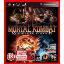 Mortal Kombat Komplete Edition Ps3 Psn Portugues Br