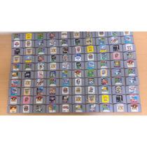 Lote De 153 Fitas Nintendo 64 Variados.