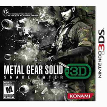 Metal Gear Solid Snake Eater 3d N3ds