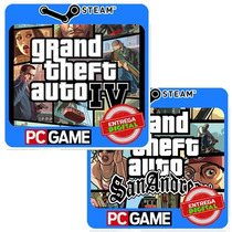 Grand Theft Auto Iv + San Andreas Pc Steam Cd-key Gta4