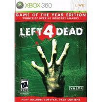 Left 4 Dead Goty Jogo Xbox 360 Original Lacrado