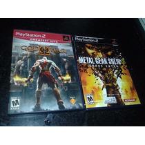 God Of War 2 + Metal Gear Solid 3 Ps2 Original