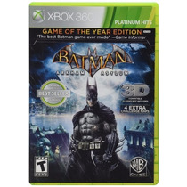 Batman Arkham Asylum Game Of The Year 3d Xbox 360 Lacrado