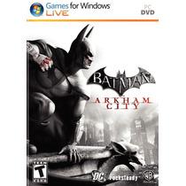 Jogo Batman Arkhan City - Pc Dvd Box - Original E Lacrado
