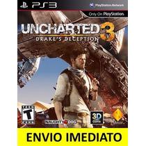 Jogo Uncharted 3 Drakes Deception Ps3 Psn Em Português