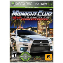 Midnight Club Los Angeles Complete Edition Xbox 360 Original