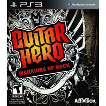 Guitar Hero: Warriors Of Rock - Jogo Ps3 - Em Disco