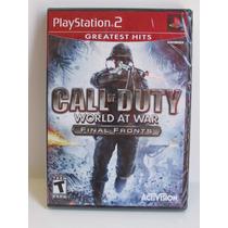 Call Of Duty World At War Final Fronts - Lacrado E Original