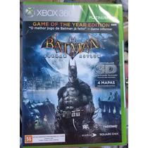 Jogo Batman Arkham Asylum Game Of The Year 3d Xbox 360