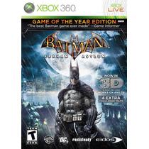 Jogo Para Xbox 360 - Batman Arkham Asylum Goty - Original