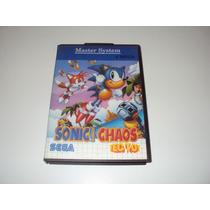 Sonic Chaos Master System Original Na Caixa