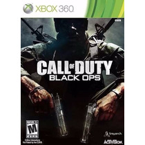 Call Of Duty Black Ops Dvd Original Ntsc Xbox 360