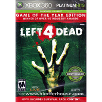 Left 4 Dead Platinum Hits Xbox 360 Original Lacrado A5393