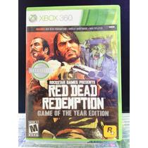 Jogo Red Dead Redemption Xbox 360, Edição Game Do Ano, Novo