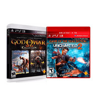 2 Jogos: God Of War Collection + Uncharted 2 - Lacrado!