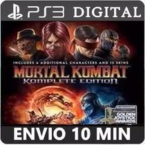 Mortal Kombat 9 Komplete Edition Ps3 Psn Baixe Agora
