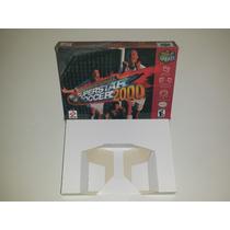Caixa Super Star Soccer 2000 + Berço Incluso, Nintendo 64!!!