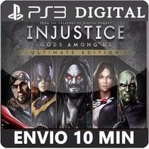 Injustice Gods Among Ultimate Português Ps3 Psn Envio Agora