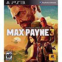 Jogo Original Ps3 Max Payne 3 Lacrado Mídia Física Rockstar