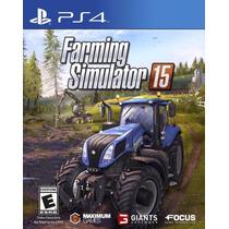Farming Simulator 15 - Ps4 - Código Psn - Primária Original