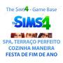 The Sims 4 Game + Spa - Terraço - Natal - Cozinha - Trabalho