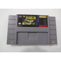 The Incredible Hulk - Jogo De Super Nintendo Original