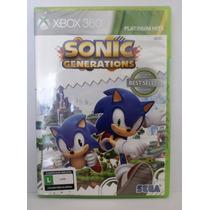 Sonic Generations - Jogo Xbox 360 - Novo Lacrado - Aventura