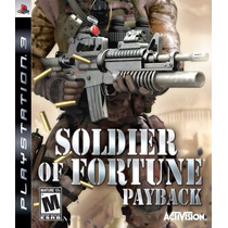 Jogo Soldier Of Fortune Payback Para Ps3 Playstation 3