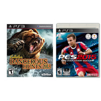 Combo Novo Cabelas Dangerous Hunts 2013 + Pes 2015 Para Ps3