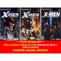 X-men Legends Para Playstation 2 (kit 3 Jogos Ps2 X Men
